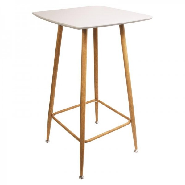 TABLE MANGE DEBOUT BLANCHE 60X60X102CM